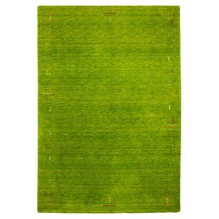 Morgenland Gabbeh Teppich Fenth Grün Einfarbig Muster Schurwolle 240 x 170 cm
