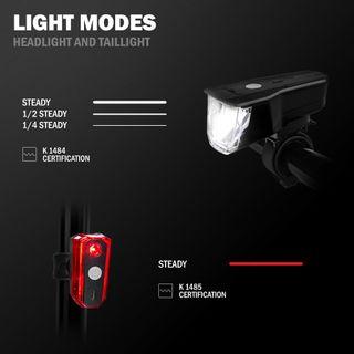 BV LED Fahrradbeleuchtung Set StVZO Zugelassen LED Fahrradlicht Frontlicht und Rücklicht