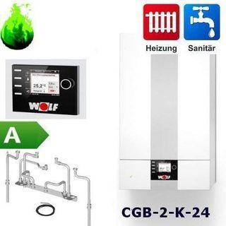 Gas-Brennwert-Kombitherme Wolf Paket CGB-2-K-24