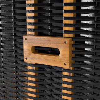 Sanzaro Strandkorb XL120 cm Deluxe Zweisitzer Holz und Poly-Rattan Sylt