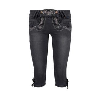 Hailys Damen Capri Jeans Trachten Hose Lederhose Oktoberfest