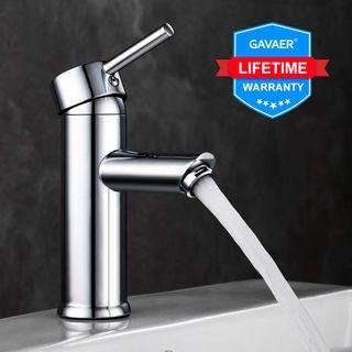 GAVAER Waschtischarmatur Wasserhahn Bad Moderner Stil Wunderschöne Design
