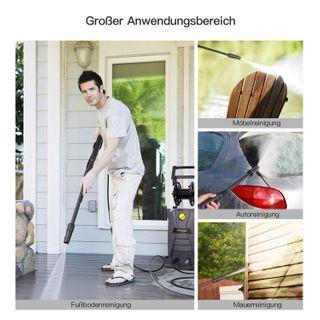 Hochdruckreiniger, Autlead HP02A 1800W 140 bar 468 L/H Elektrischer Hochdruckreiniger, mit solidem Griff, Schlauchtrommel, Reinigungsmitteltank, Schlauchanschlussfilter, für Haushalt, Garten, Auto