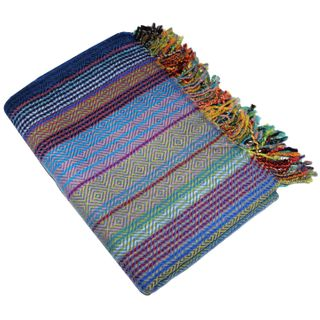 Lorenzo Cana High End Luxus Wolldecke aufwändig Jacquard Gewebtes Muster
