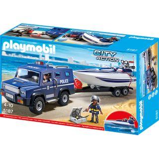 Playmobil 5187 Polizei-Truck mit Speedboot
