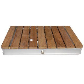 @tec Gartendusche Aussendusche aus massivem Teak-Holz