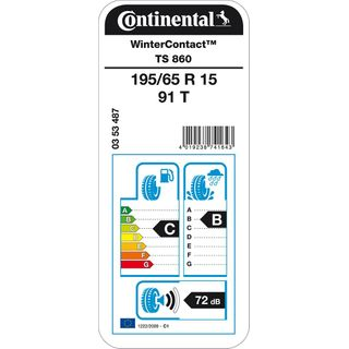 CONTINENTAL WinterContact TS 860-195/65/15 091T