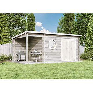 CARLSSON Modernes Holz Gartenhaus