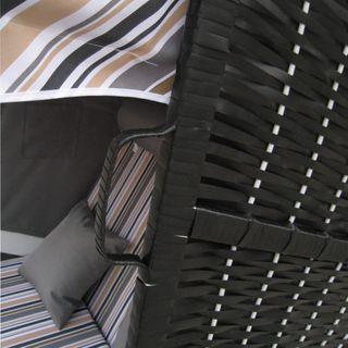 Jalano Zweisitzer Strandkorb mit klappbarer Rückenlehne für 2 Personen 118 x 80 x 160 cm