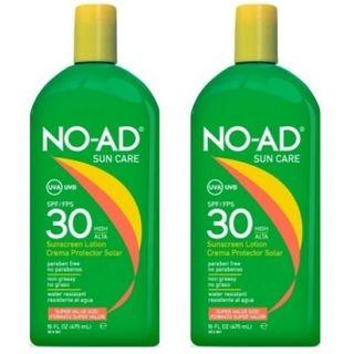 NO-AD Sonnencreme LSF 30 High Sonnenschutz Lotion UVA UVB Schutz Wasserfest