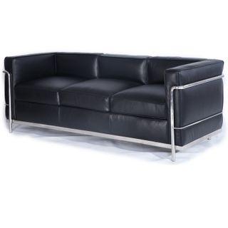Kardiel Le Corbusier Style LC2 Sofa 3-Sitzer