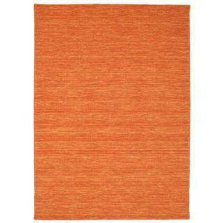 CarpetVista Kelim Loom Orange Teppich 160x230 Moderner Teppich
