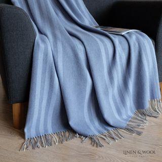 Linen & Cotton Luxus Wolldecke Merino Venice