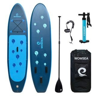 WOWSEA Surfboard aufblasbar Paddle Board Set