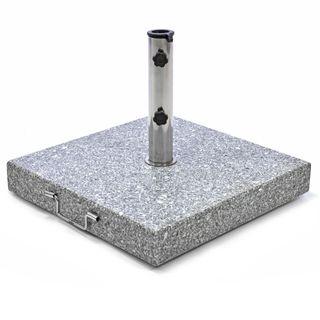Nexos Sonnenschirmständer Granit eckig grau