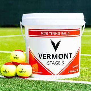 Vermont Tennisball Eimer Druckloses Training Tennisbälle (60)
