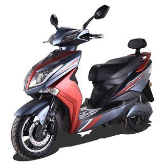 Elektroroller E-Scooter E-Roller Rot/Schwarz