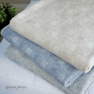 Linen & Cotton Luxus Merino Wolldecke Emma