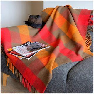 Linen & Cotton Bunt Karierte Wohndecke Bolivia